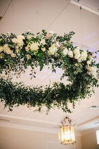 6 foot floral hoop from katiebug floral on the curate marketplace; curate is the leading software solution for florists who do weddings and events