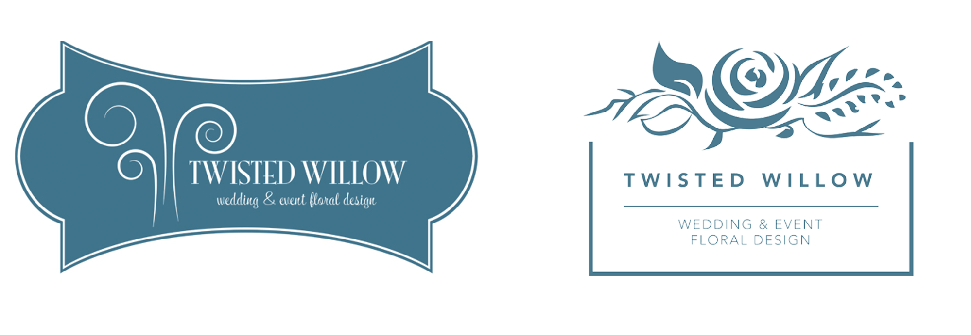 example of wedding florist logo before and after