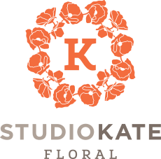 studio kate wedding florist logo