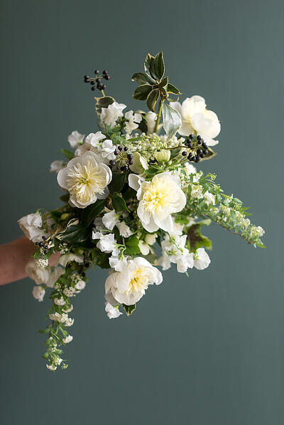 Spring White Blossom Bridal Bouquet Recipe from Sweet Root Village now on The Curate Marketplace