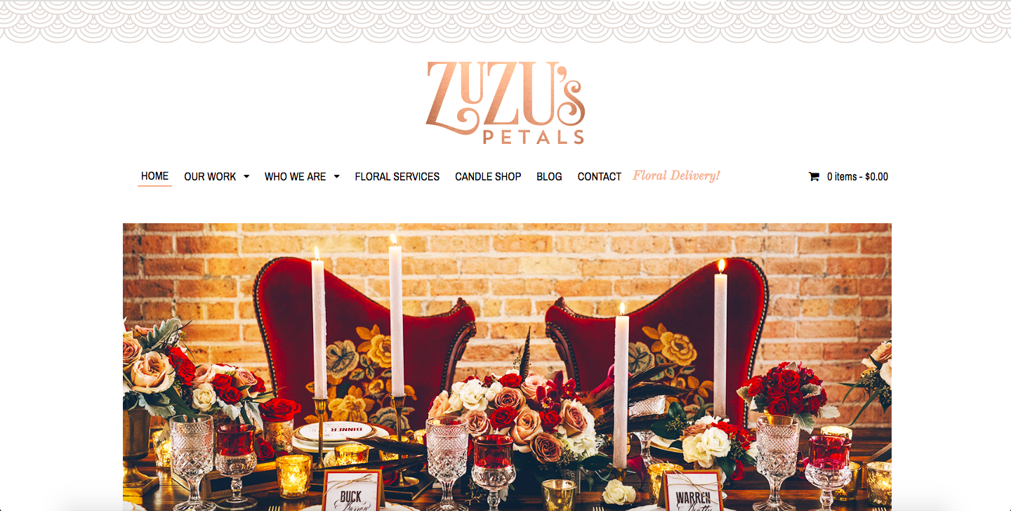 best florist website design
