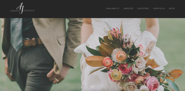 Amanda Joy best florist website design