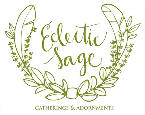eclectic sage wedding florist logo