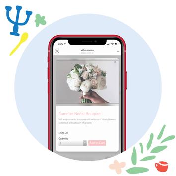 social selling iphone 11 mockup